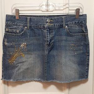 GUESS sequin jean skirt